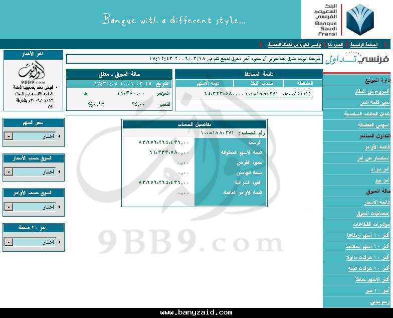 حساب تداول الوليد بن طلال في البنك الفرنسي سمكة الامارات